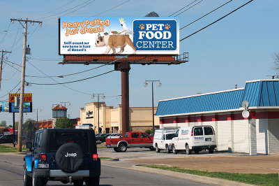 Pet Food Center Billboard