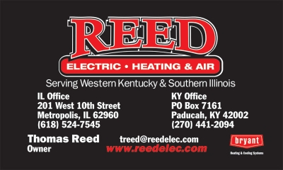 Reed Electric, Heating & Air Business Card