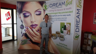 Dream Gel Tradeshow Booth