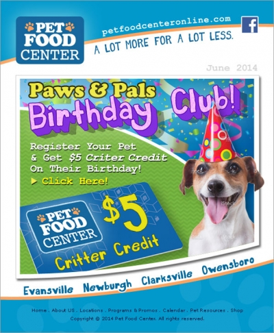Pet Food Center Eblast