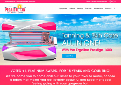 Premiere Tan Website