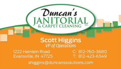 Duncan's Janitorial Business Cards