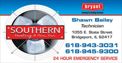 Southern Heating & Air Business Card