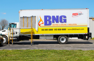 BNG Heating & Cooling Truck Wrap